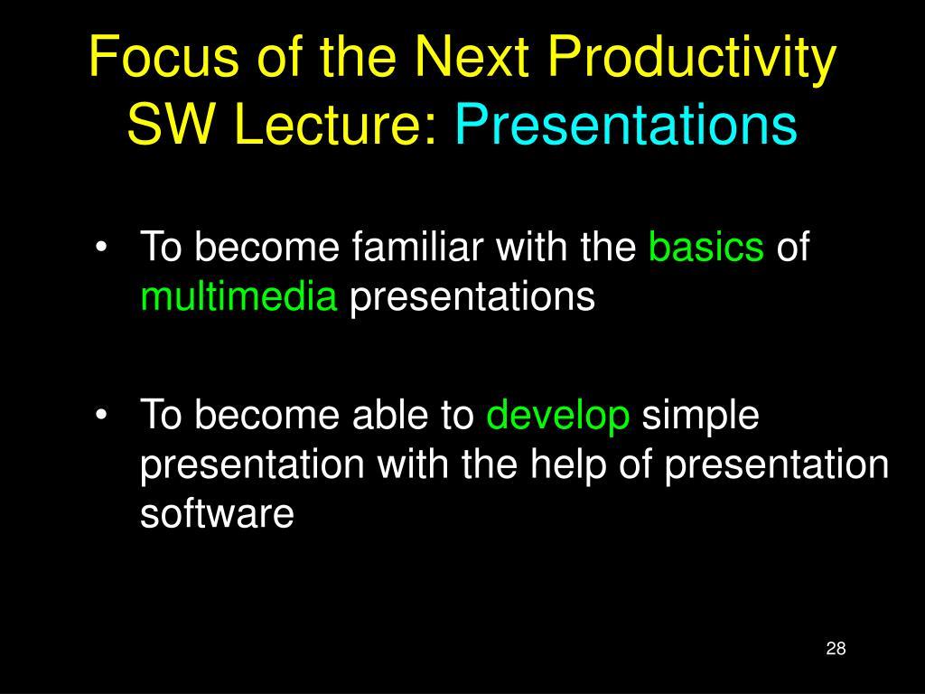 basics of multimedia