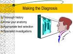making the diagnosis