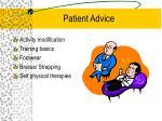 patient advice