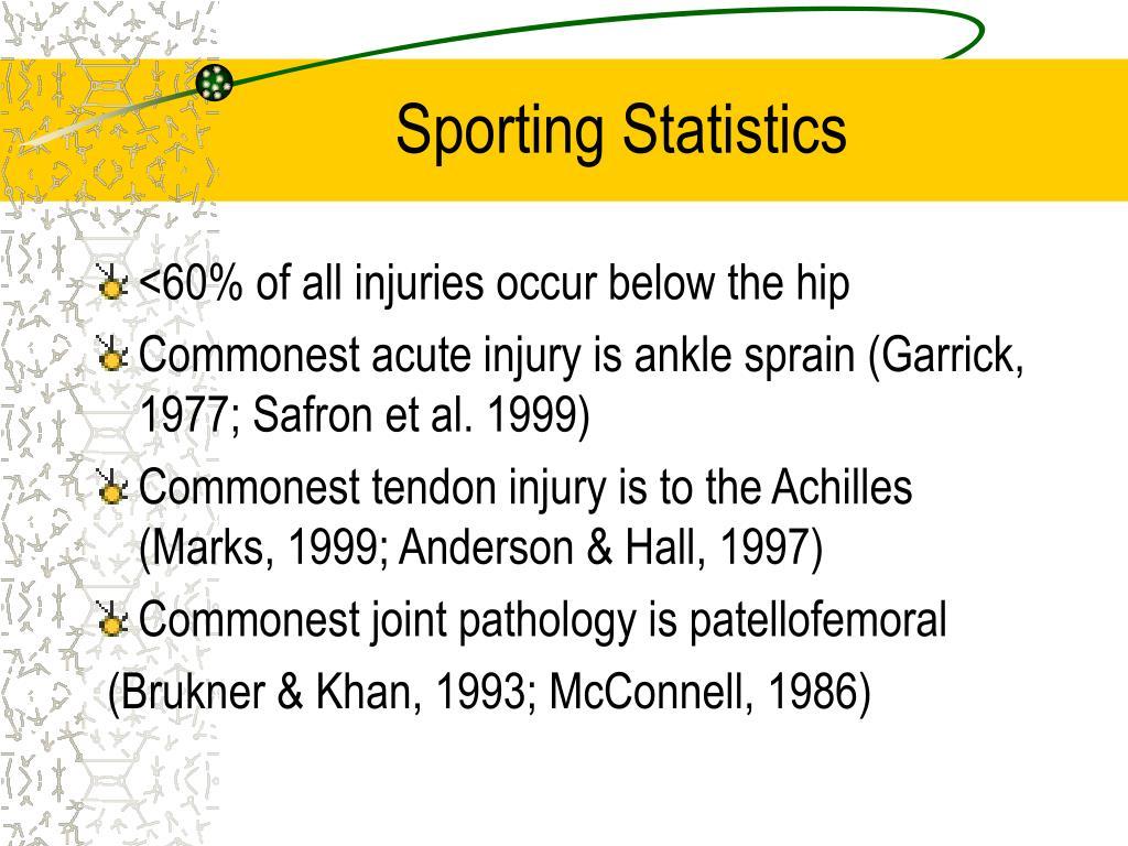 Sporting Statistics