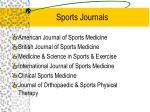 sports journals