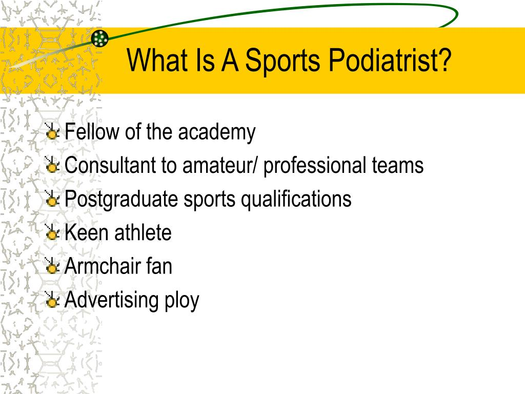 What Is A Sports Podiatrist?