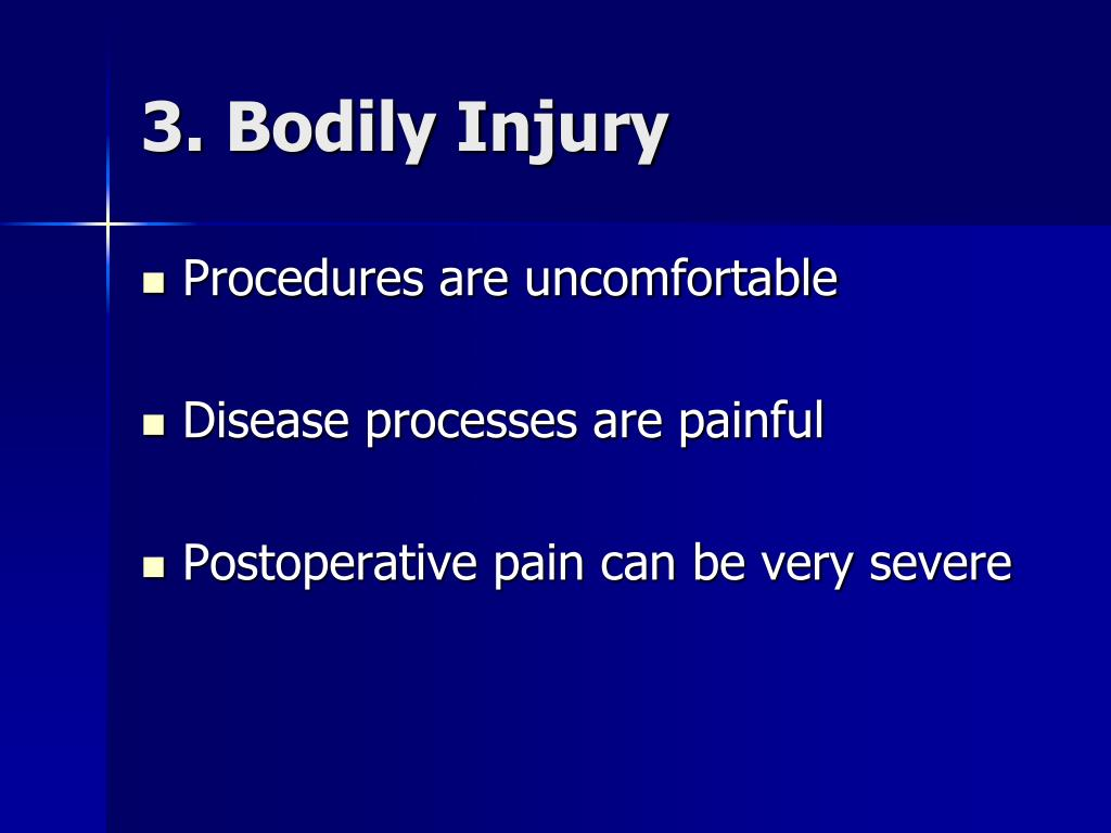 3. Bodily Injury
