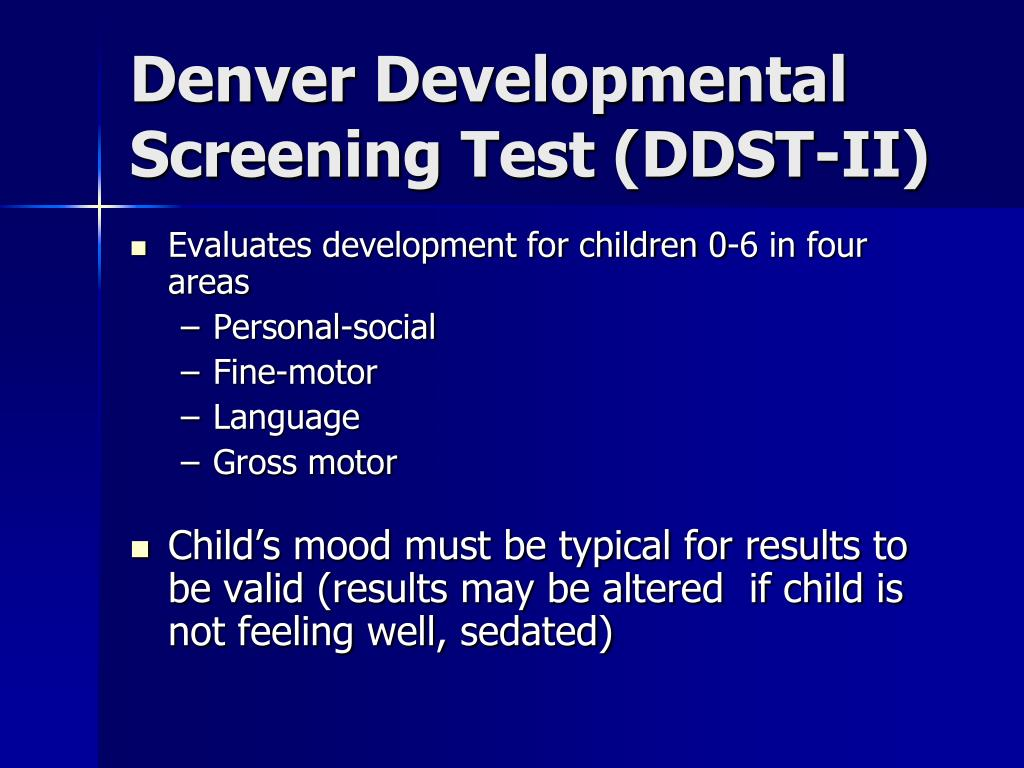 Denver Developmental Screening Test (DDST-II)