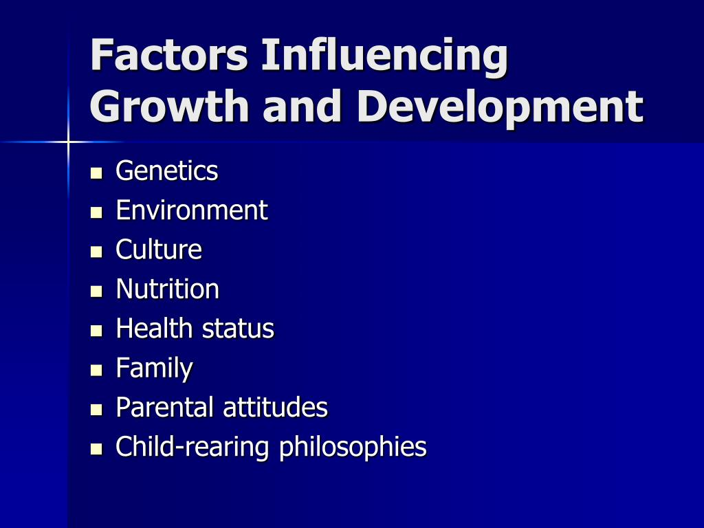 Factors Influencing Growth and Development