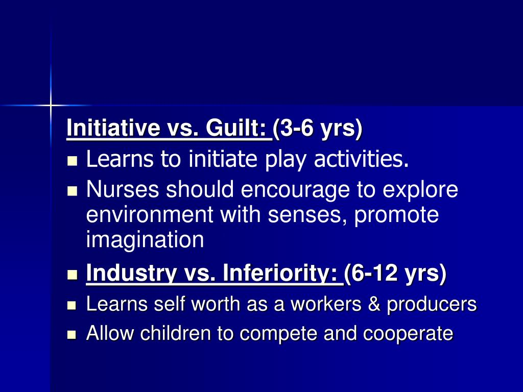 Initiative vs. Guilt: