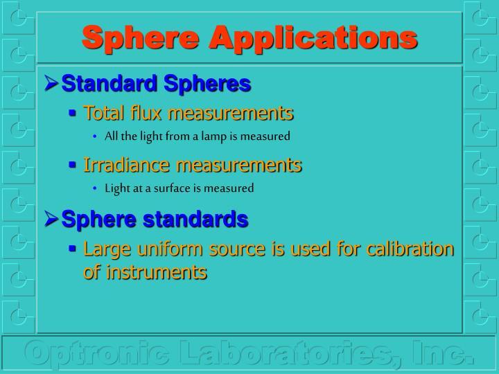 Sphere applications