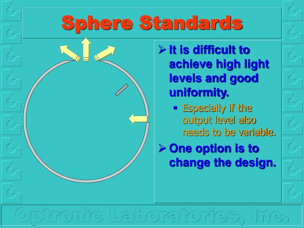 Sphere Standards