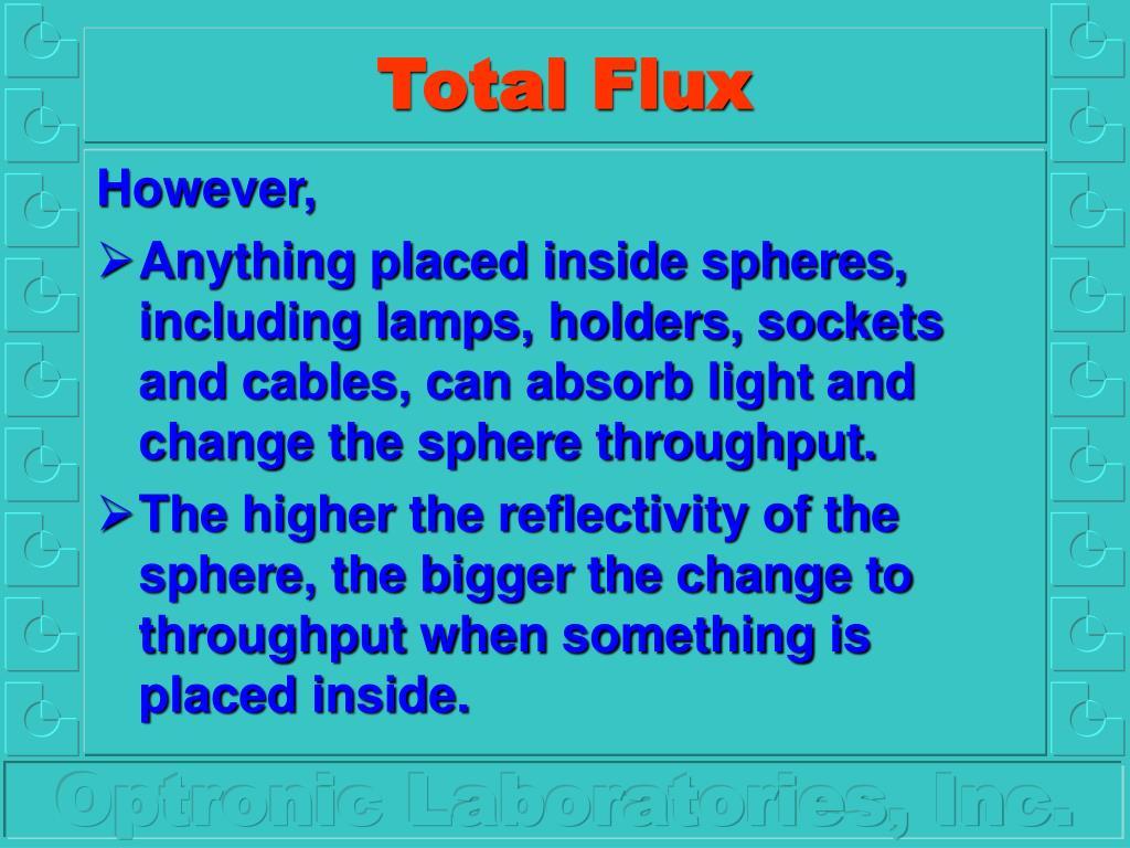 Total Flux