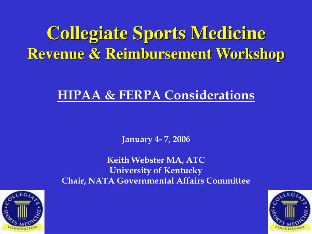 collegiate sports medicine revenue reimbursement workshop l.