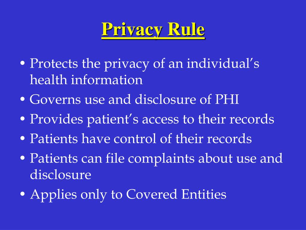 Privacy Rule