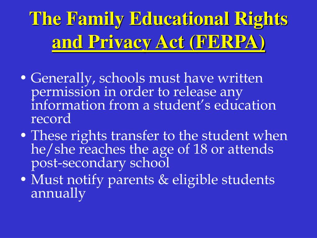 The Family Educational Rights