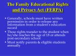 the family educational rights and privacy act ferpa43