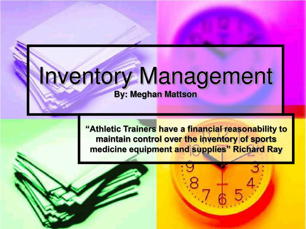 inventory management by meghan mattson l.