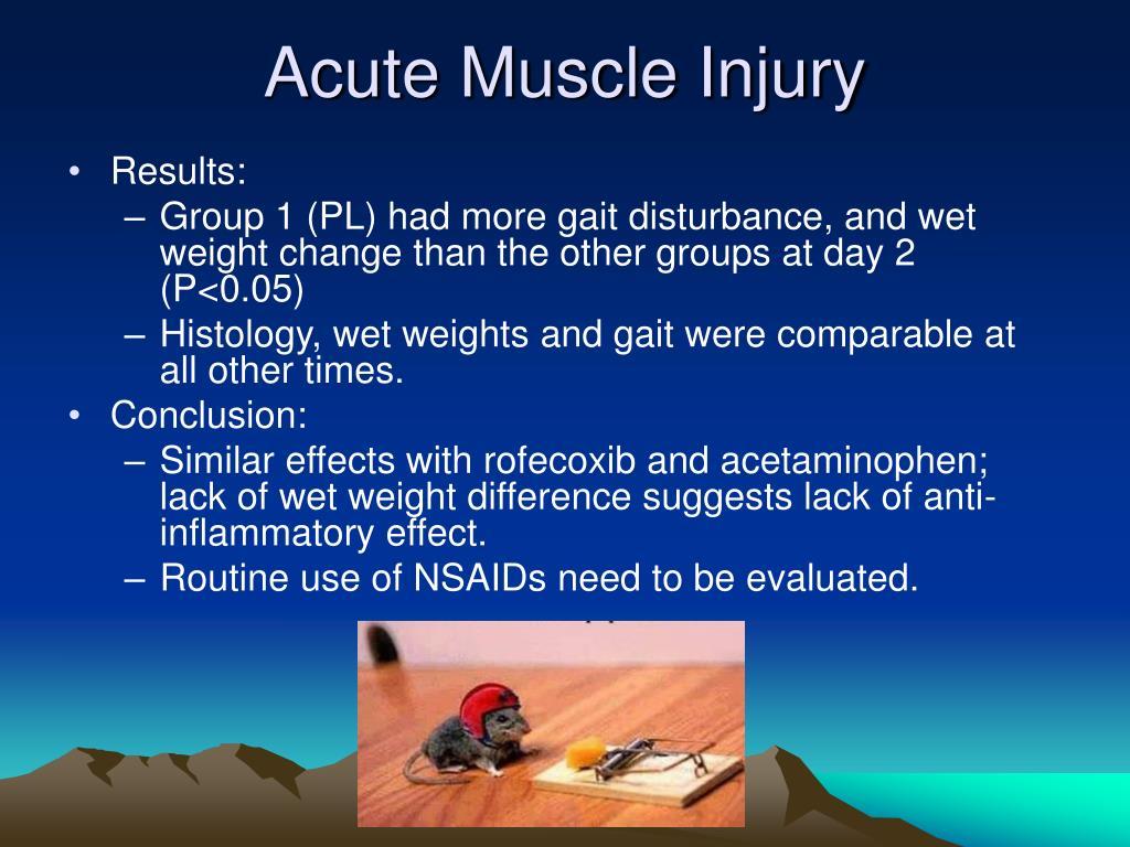 Acute Muscle Injury