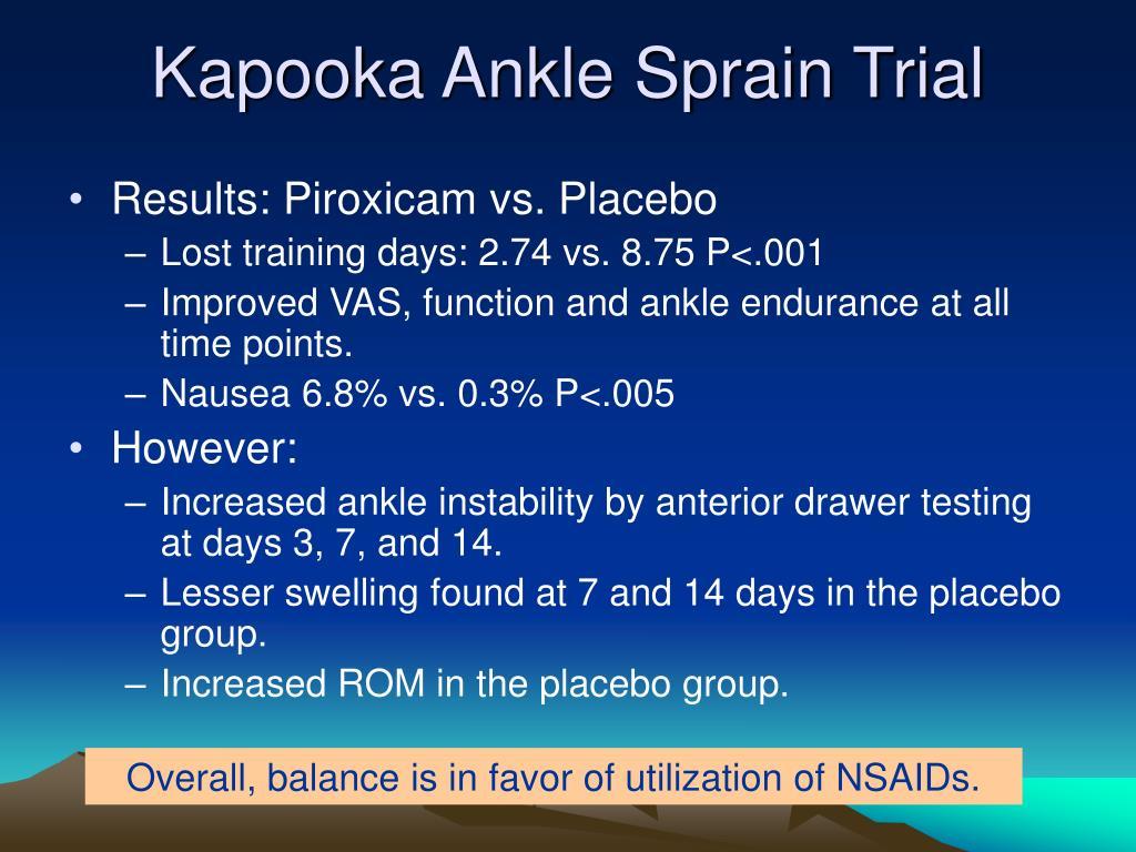 Kapooka Ankle Sprain Trial