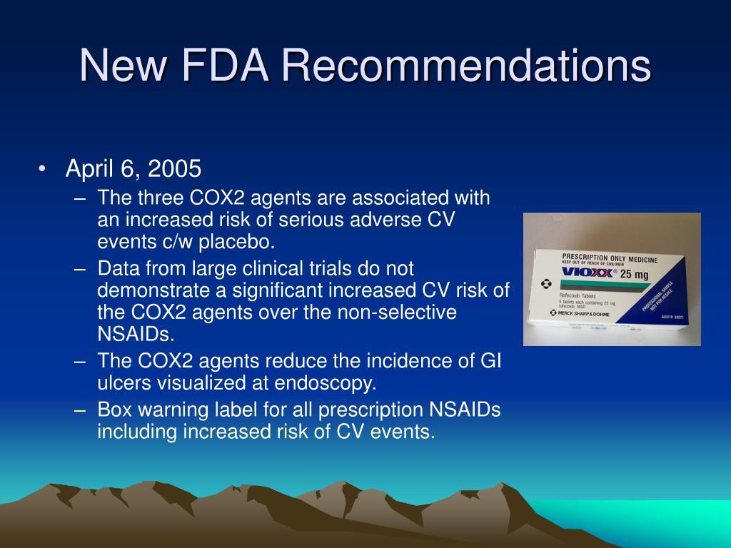 New FDA Recommendations