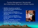 practical management nonsteroidal anti inflammatory drug use in athletic injuries30