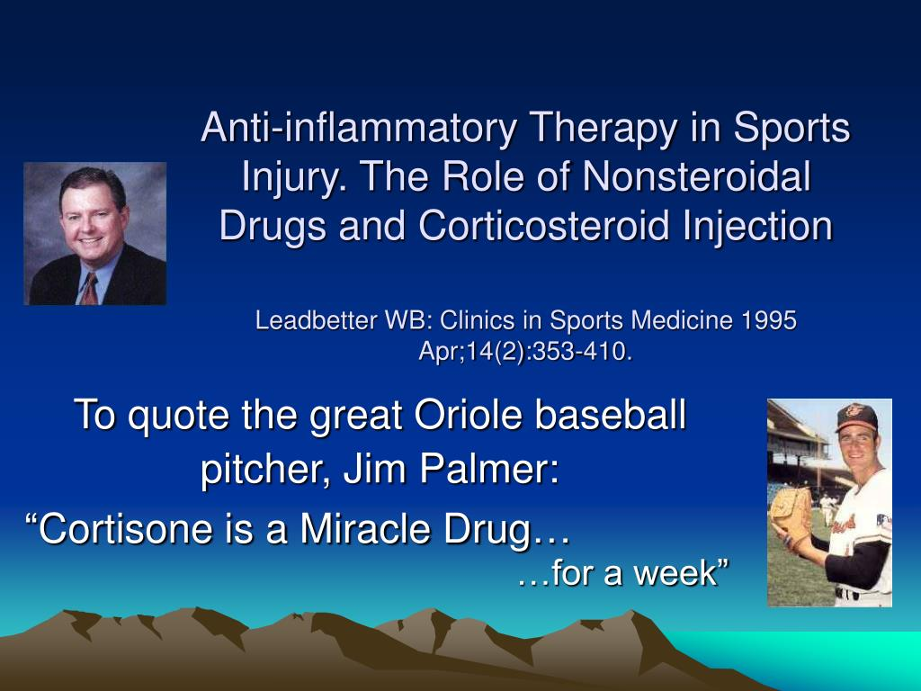 Anti-inflammatory Therapy in Sports Injury. The Role of Nonsteroidal Drugs and Corticosteroid Injection