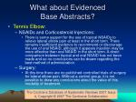 what about evidenced base abstracts24