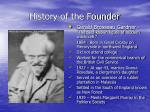 history of the founder