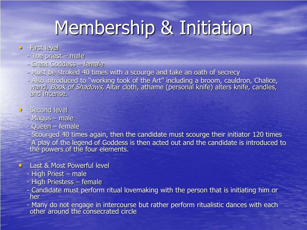 Membership & Initiation