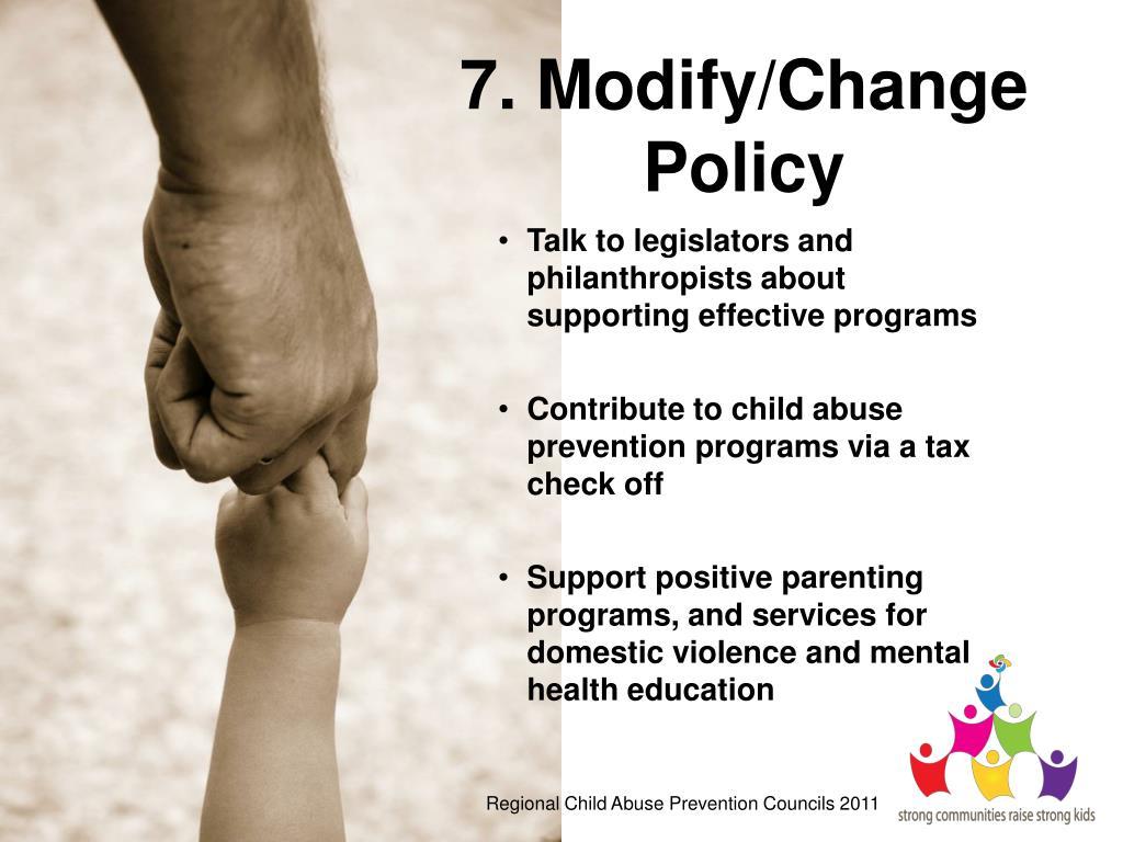 7. Modify/Change Policy