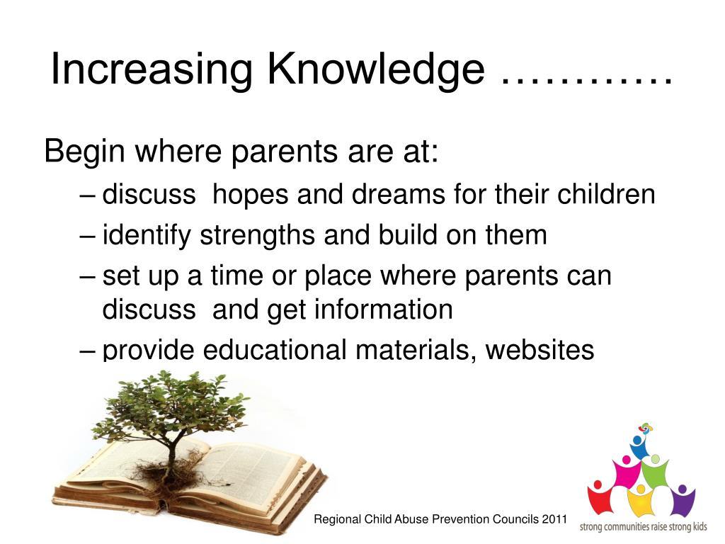 Increasing Knowledge …………