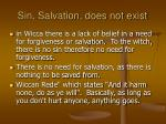 sin salvation does not exist