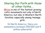 sharing our faith with those of other faiths10