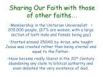 sharing our faith with those of other faiths34