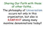 sharing our faith with those of other faiths42