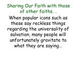 sharing our faith with those of other faiths44