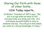 sharing our faith with those of other faiths46