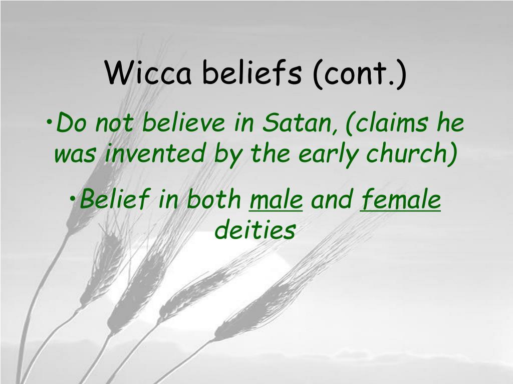 Wicca beliefs (cont.)