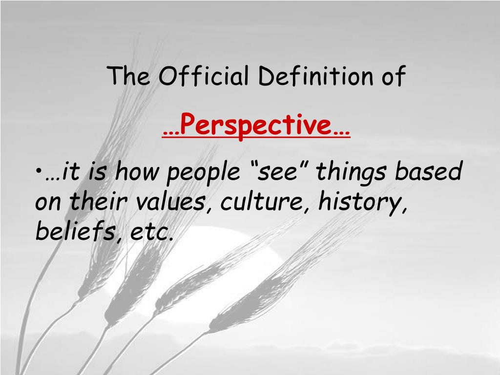 The Official Definition of
