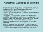 aartemis goddess of animals