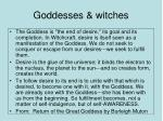 goddesses witches
