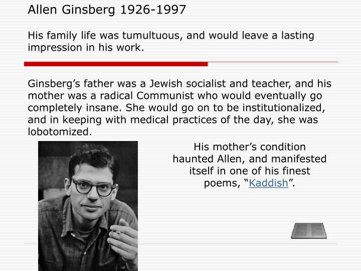 kaddish ginsberg analysis