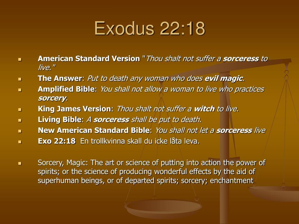 Exodus 22:18