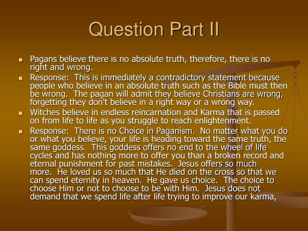Question Part II