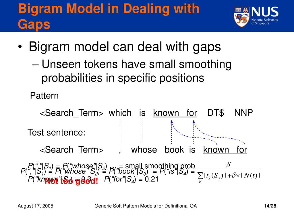Bigram Model in Dealing with Gaps