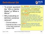 definitional qa