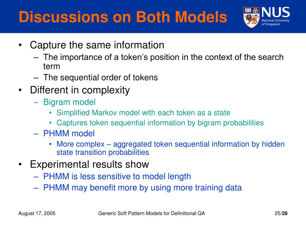 Discussions on Both Models