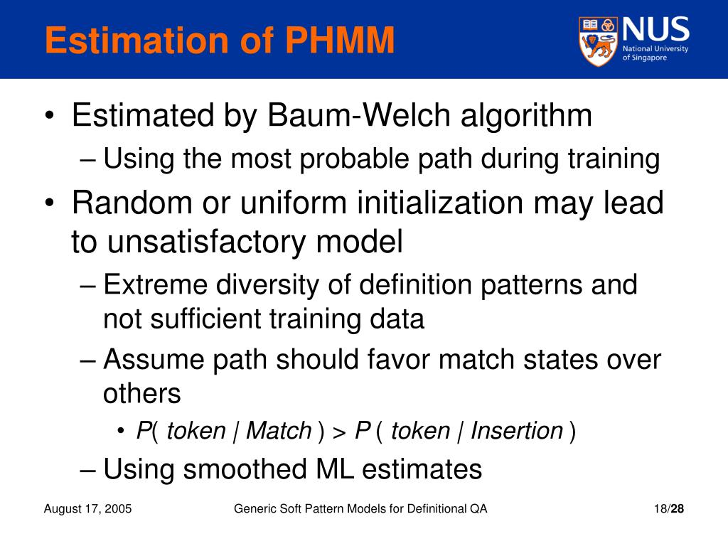 Estimation of PHMM