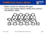 phmm soft pattern model