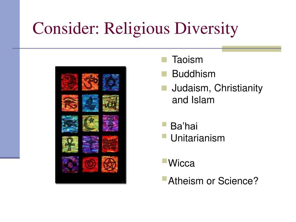Consider: Religious Diversity