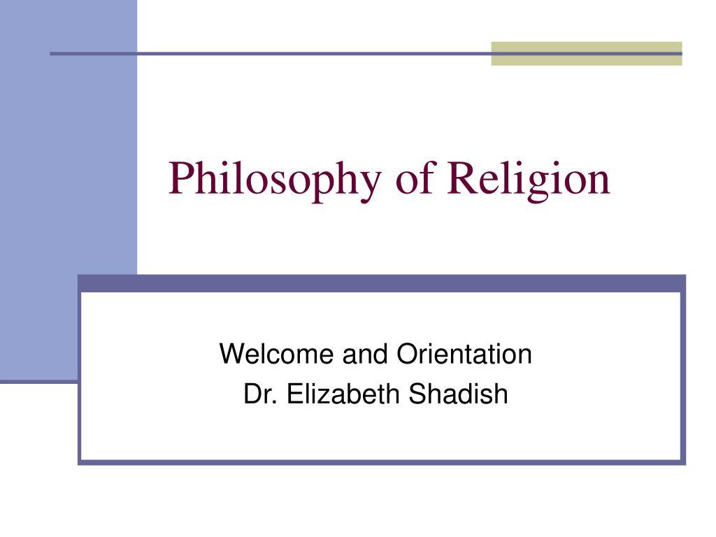 philosophy of religion l.
