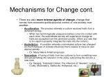 mechanisms for change cont
