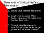 three levels of spiritual warfare peter wagner